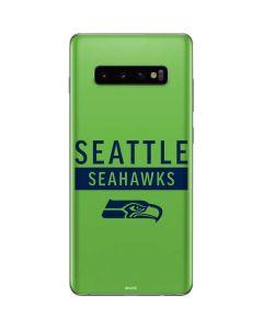 Seattle Seahawks Green Performance Series Galaxy S10 Plus Skin