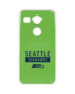 Seattle Seahawks Green Performance Series Google Nexus 5X Clear Case
