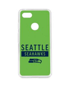 Seattle Seahawks Green Performance Series Google Pixel 3 XL Clear Case