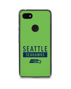 Seattle Seahawks Green Performance Series Google Pixel 3a XL Clear Case