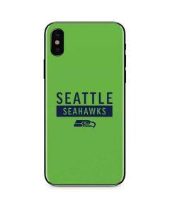 Seattle Seahawks Green Performance Series iPhone XS Max Skin