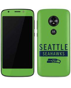 Seattle Seahawks Green Performance Series Moto E5 Play Skin