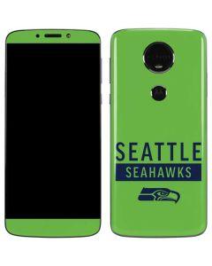 Seattle Seahawks Green Performance Series Moto E5 Plus Skin