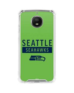 Seattle Seahawks Green Performance Series Moto G5S Plus Clear Case