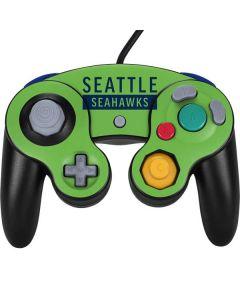 Seattle Seahawks Green Performance Series Nintendo GameCube Controller Skin