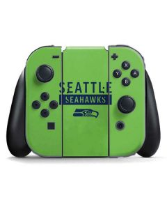 Seattle Seahawks Green Performance Series Nintendo Switch Joy Con Controller Skin
