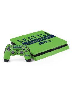 Seattle Seahawks Green Performance Series PS4 Slim Bundle Skin