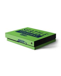 Seattle Seahawks Green Performance Series Xbox One X Console Skin
