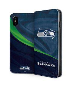 Seattle Seahawks iPhone XS Folio Case