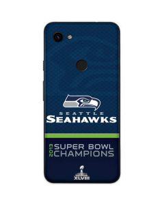 Seattle Seahawks Super Bowl XLVIII Google Pixel 3a Skin