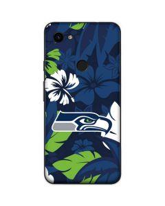 Seattle Seahawks Tropical Print Google Pixel 3a Skin