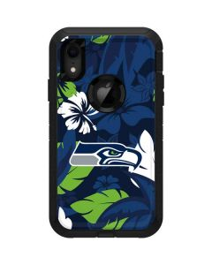 Seattle Seahawks Tropical Print Otterbox Defender iPhone Skin