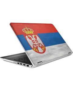 Serbia Flag Distressed HP Pavilion Skin