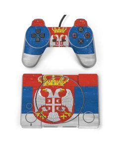 Serbia Flag Distressed PlayStation Classic Bundle Skin