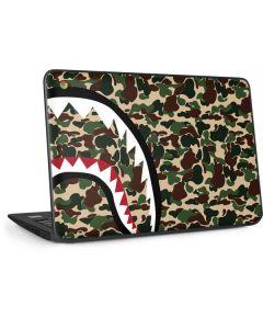 Shark Teeth Street Camo HP Chromebook Skin