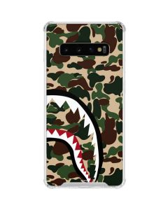 Shark Teeth Street Camo Galaxy S10 Clear Case