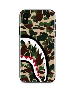 Shark Teeth Street Camo iPhone X Skin