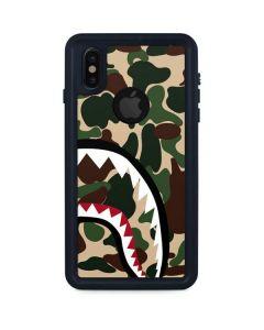 Shark Teeth Street Camo iPhone XS Waterproof Case