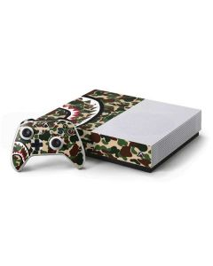 Shark Teeth Street Camo Xbox One S Console and Controller Bundle Skin