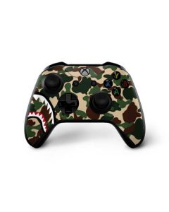 Shark Teeth Street Camo Xbox One X Controller Skin