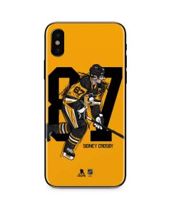 Sidney Crosby #87 Action Sketch iPhone XS Skin