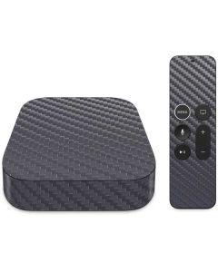 Silver Carbon Fiber Apple TV Skin