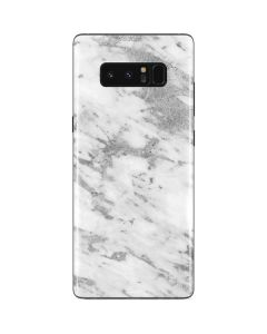 Silver Marble Galaxy Note 8 Skin