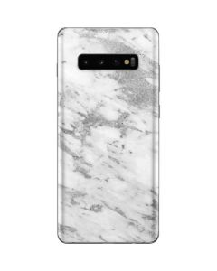 Silver Marble Galaxy S10 Plus Skin
