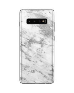 Silver Marble Galaxy S10 Plus Skin