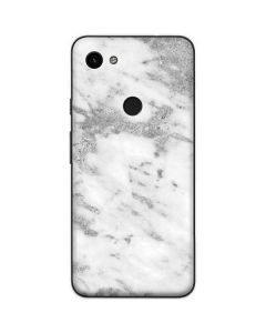 Silver Marble Google Pixel 3a Skin
