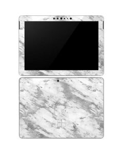 Silver Marble Surface Go Skin