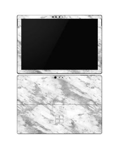 Silver Marble Surface Pro 6 Skin