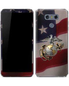 Silver Marine American Flag LG G6 Skin