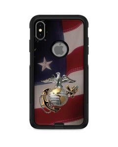 Silver Marine American Flag Otterbox Commuter iPhone Skin