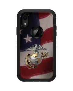 Silver Marine American Flag Otterbox Defender iPhone Skin