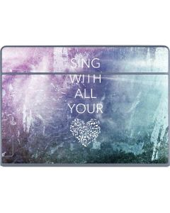 Sing With All Your Heart Galaxy Book Keyboard Folio 12in Skin
