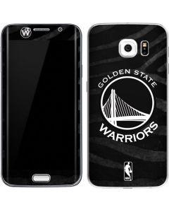 Golden State Warriors Black Animal Print Galaxy S6 Edge Skin