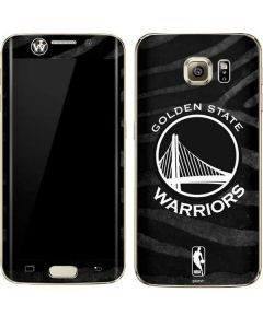 Golden State Warriors Black Animal Print Galaxy S7 Edge Skin