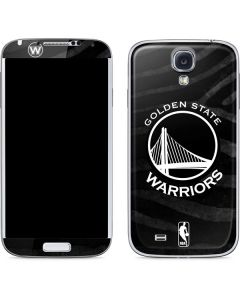 Golden State Warriors Black Animal Print Galaxy S4 Skin