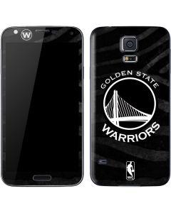 Golden State Warriors Black Animal Print Galaxy S5 Skin