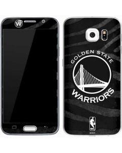 Golden State Warriors Black Animal Print Galaxy S7 Skin