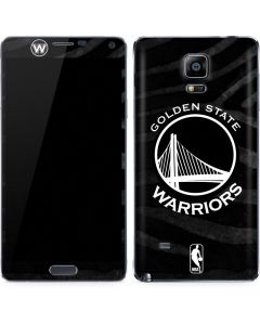 Golden State Warriors Black Animal Print Galaxy Note 4 Skin