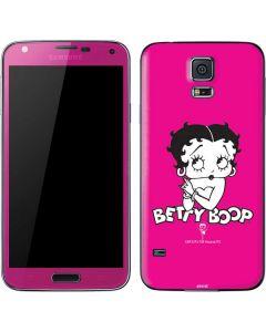 Betty Boop Pink Background Galaxy S5 Skin