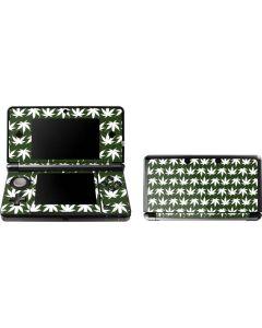 Marijuana Leaf White Pattern 3DS (2011) Skin