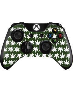 Marijuana Leaf White Pattern Xbox One Controller Skin