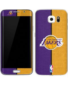 Los Angeles Lakers Canvas Galaxy S6 Edge Skin