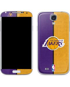 Los Angeles Lakers Canvas Galaxy S4 Skin