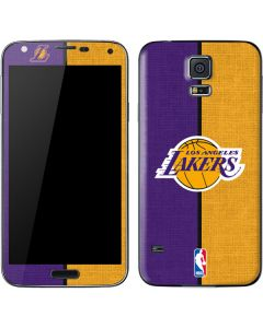 Los Angeles Lakers Canvas Galaxy S5 Skin