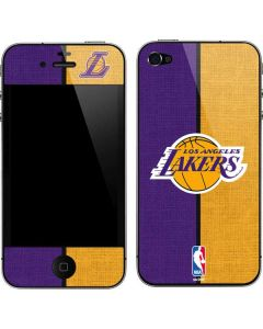 Los Angeles Lakers Canvas iPhone 4&4s Skin