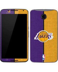 Los Angeles Lakers Canvas Google Nexus 6 Skin